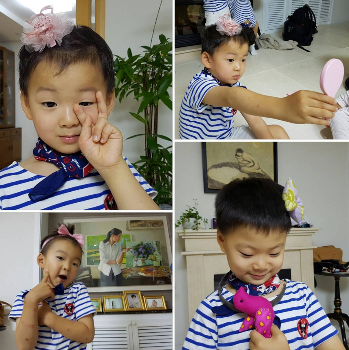 Song Triplets Are Picture Perfect in Adorable Pink Bows