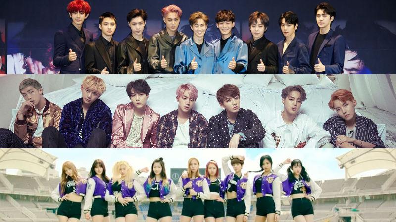 Imagini pentru BTS and exo and twice