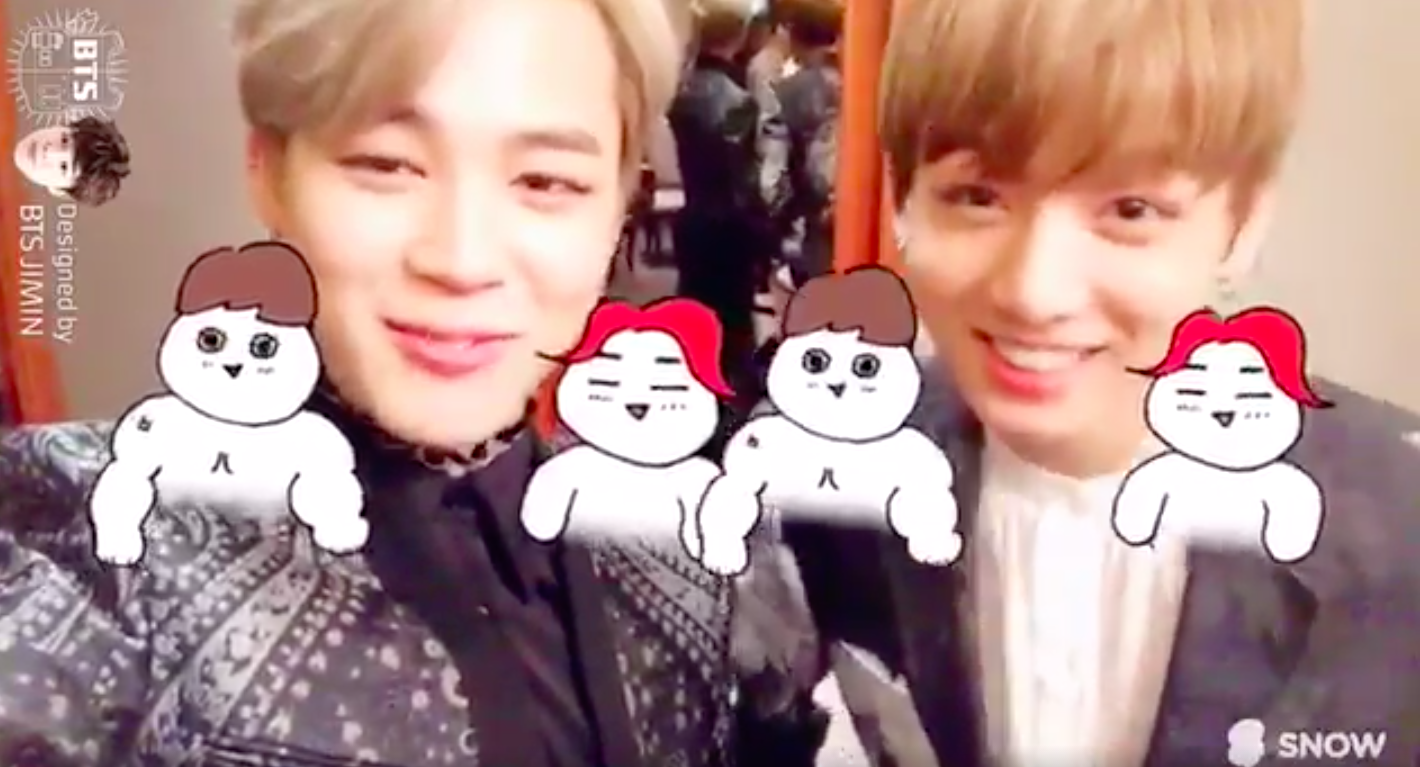 BTS's Jimin And Jungkook Design Cute Selfie Filters For Mobile App