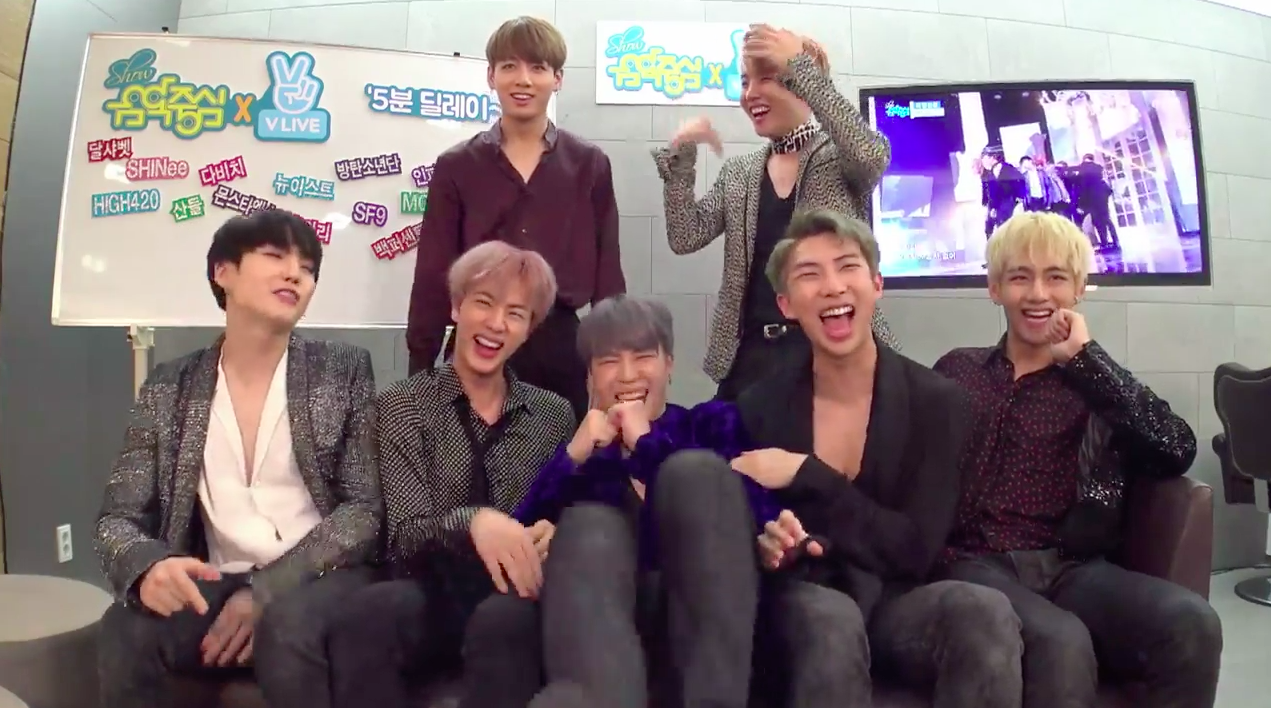 """Watch: BTS, SHINee, GOT7, INFINITE, Apink, MONSTA X And More React To Their """"Music Core"""" Performances"""
