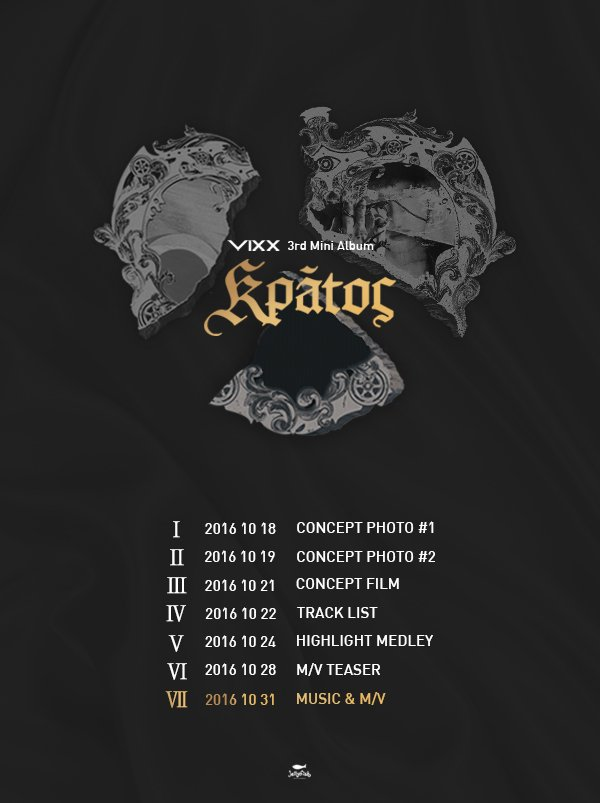 "Update: VIXX Releases Comeback Schedule For ""Kratos"""