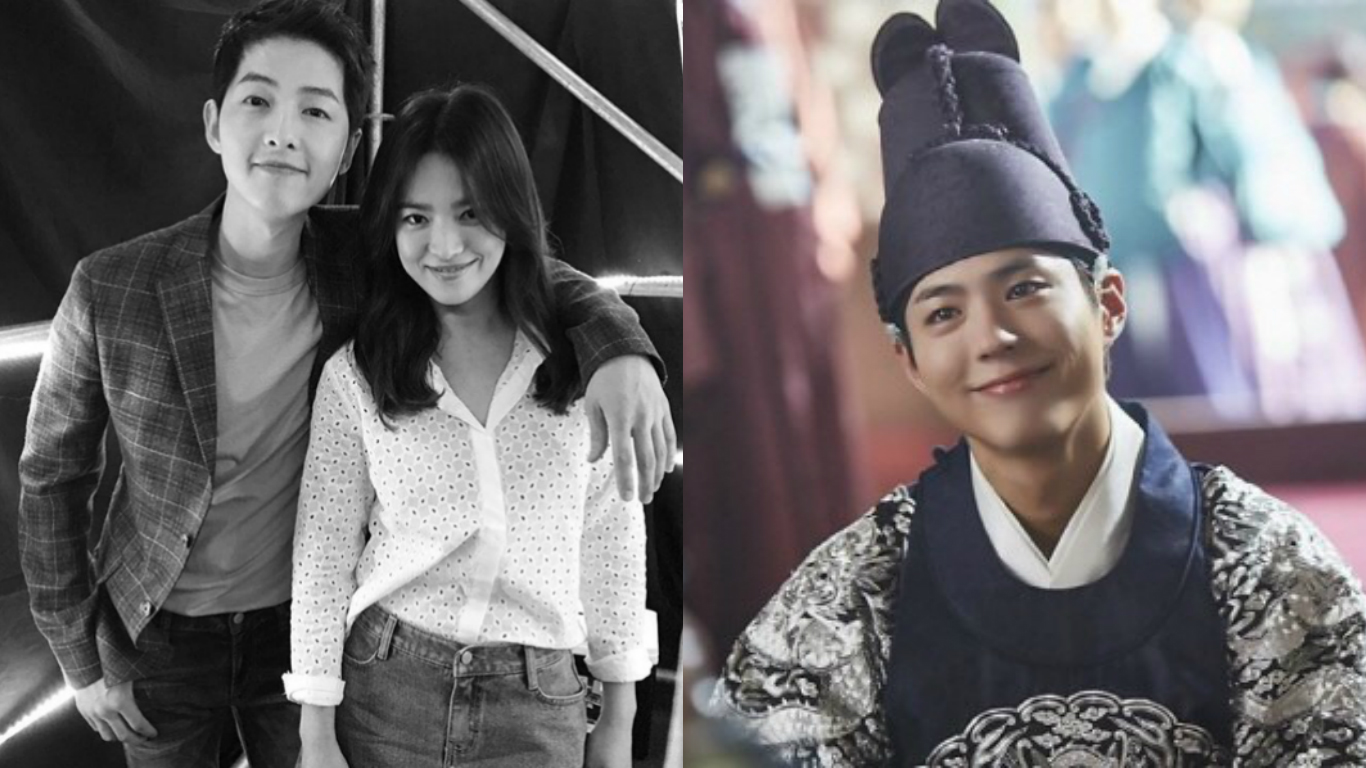 """Song Hye Kyo And Song Joong Ki Send Coffee Truck For Park Bo Gum And Directors Of """"Moonlight Drawn By Clouds"""""""