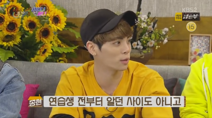 """Jonghyun Clarifies Former Comments About SHINee's """"Business"""" Relationship On """"Happy Together"""""""