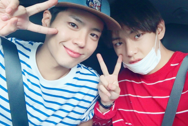 "BTS's V Shares Park Bo Gum's Reaction To Their ""Blood Sweat"