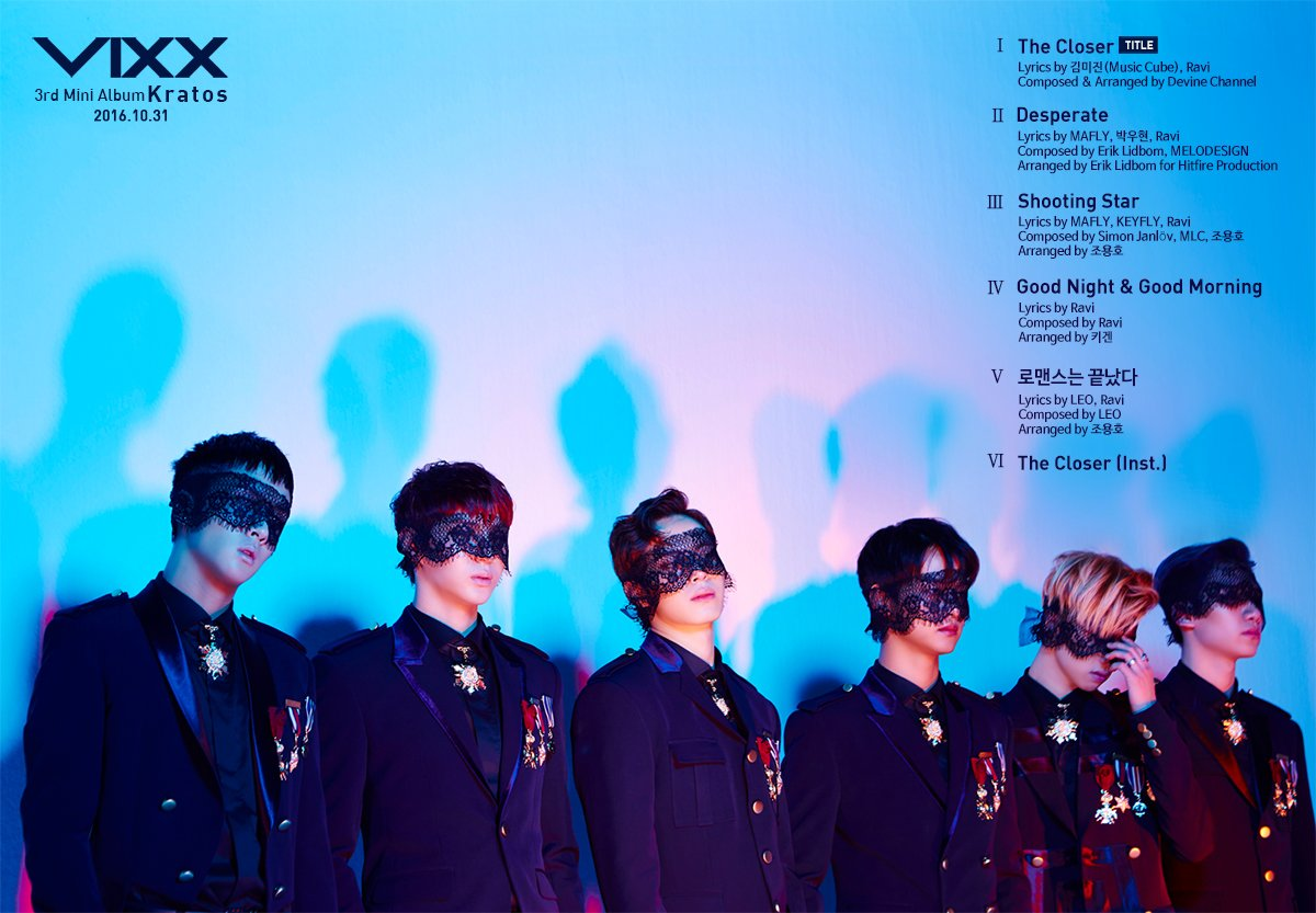 "Update: VIXX Reveals Tracklist For 3rd Mini Album ""Kratos"""