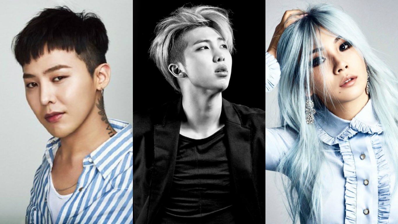 G Dragon Rap Monster Cl Epik High Zico And More Named As 10