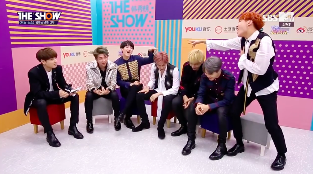 """Watch: BTS Picks Their Sexiest Member, Rapper Line Shows Off Singing Talents, And More On """"The Show"""""""
