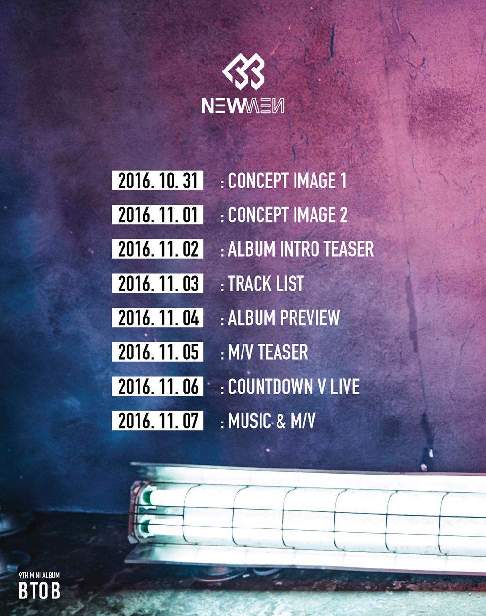 """BTOB Unveils """"NEW MEN"""" Comeback Schedule"""