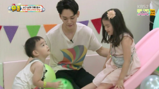 EXO's Chen Gives SoDa Siblings Thoughtful Presents