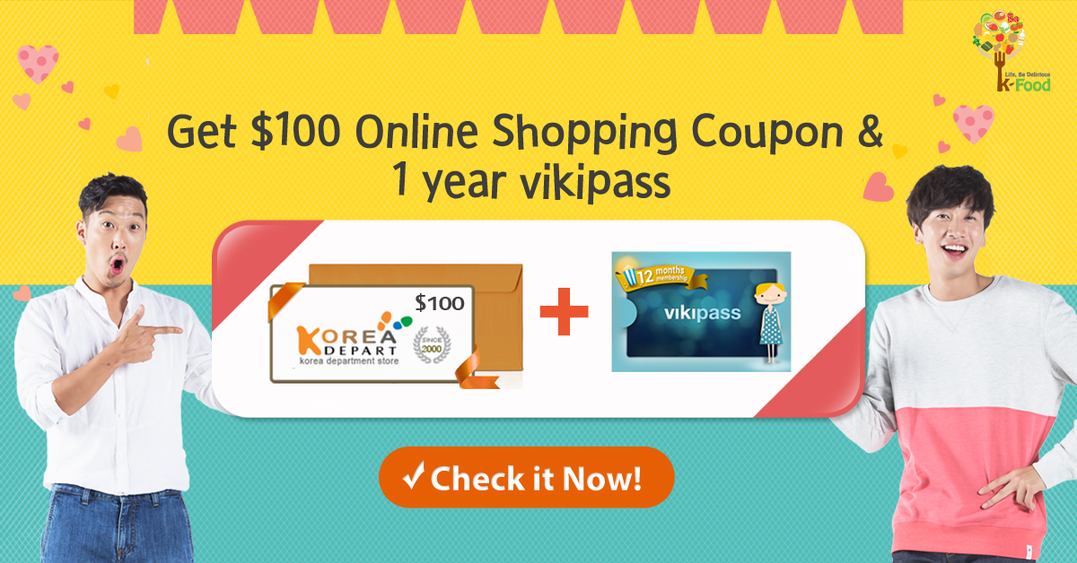 Find K-Food Around You and WIN a 1-Year Viki Pass + $100 Gift Card!