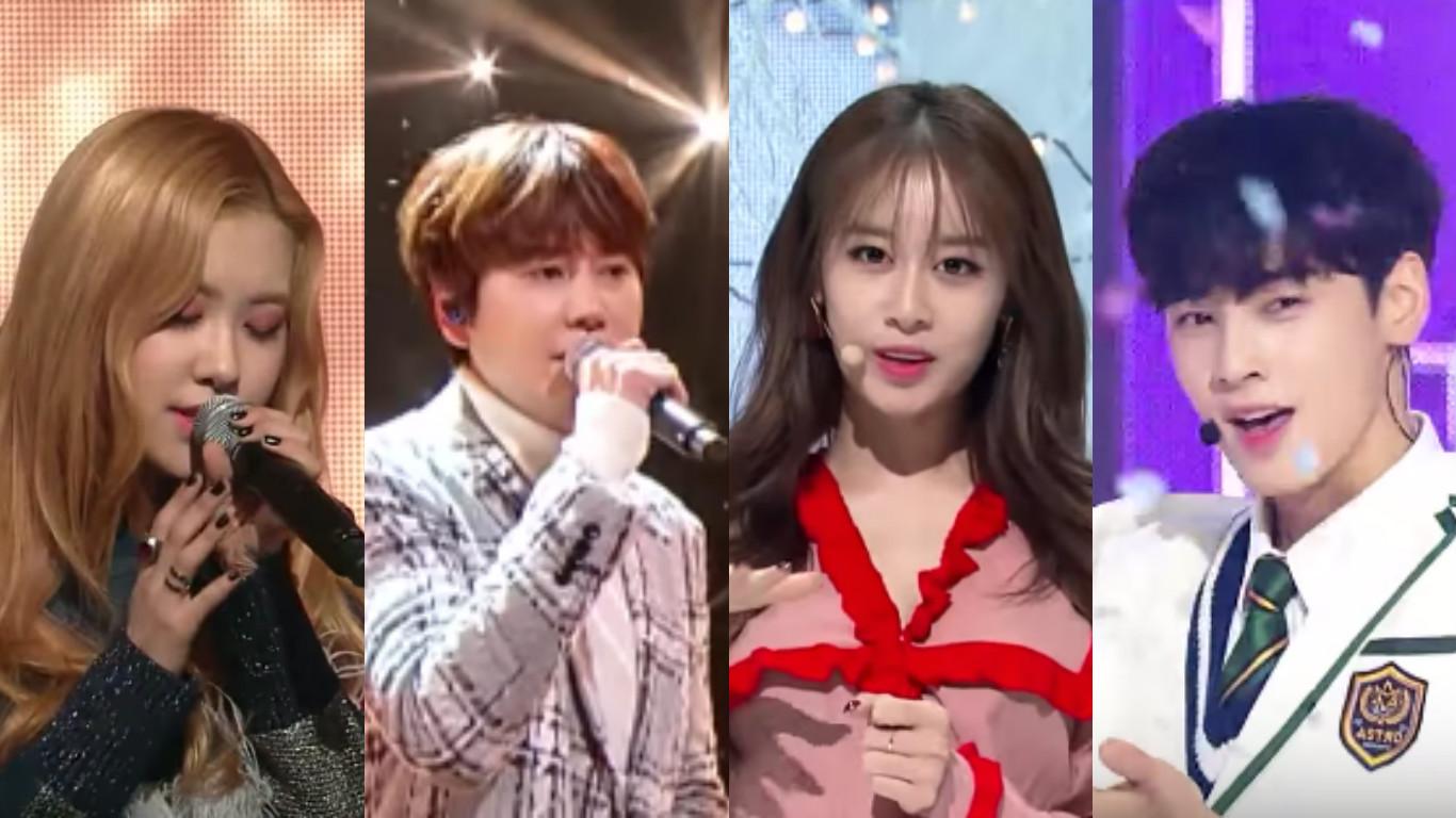 "Watch: TWICE, BLACKPINK, ASTRO, Hyorin, T-ara, Kyuhyun, VICTON, MAMAMOO, And More Perform On ""M!Countdown"""