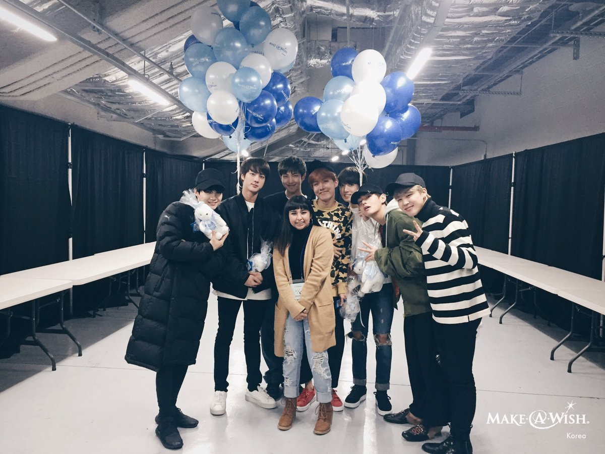 BTS Meets Young Fan With Incurable Disease Through Make-A-Wish Foundation