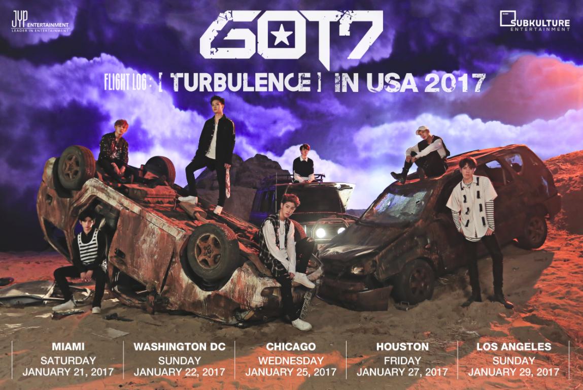 "GOT7 Takes Flight With ""GOT7 FLIGHT LOG: TURBULENCE IN USA 2017"" Fanmeet Tour!"