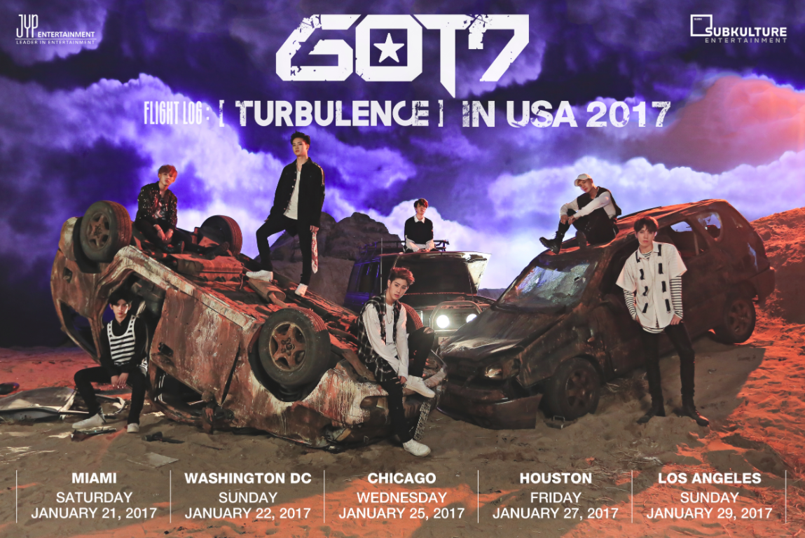 "GOT7 Takes Flight With ""GOT7 FLIGHT LOG: TURBULENCE IN USA 2017"" Fanmeet Tour!"