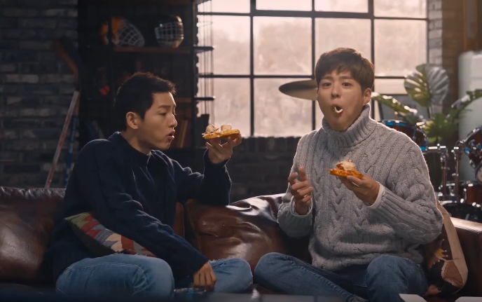 Watch: Song Joong Ki And Park Bo Gum Really Love Pizza And Each Other
