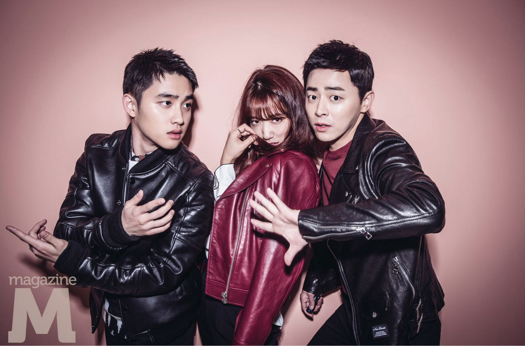 Jo Jung Suk, Park Shin Hye, And D.O. Compete To See Who Has The Funniest Poses In Magazine Shoot