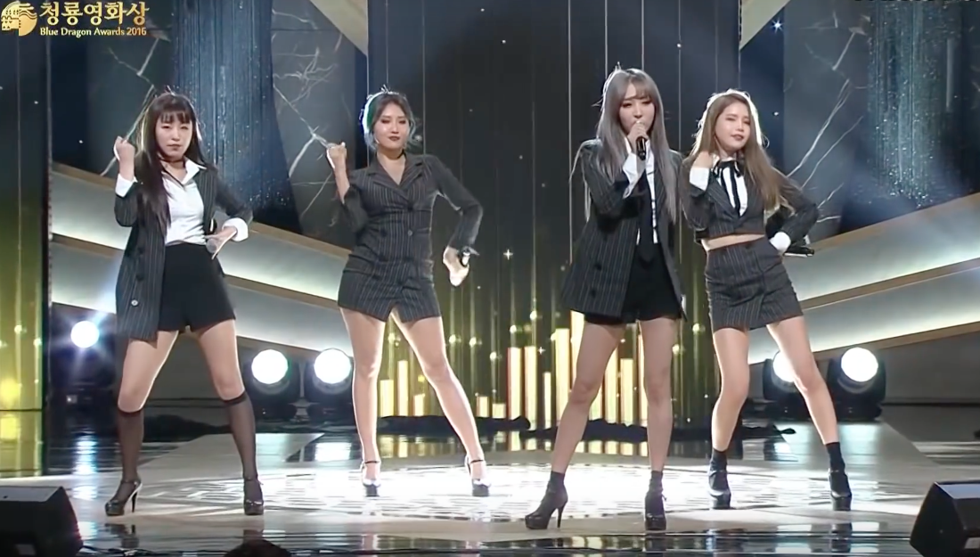 Watch: MAMAMOO Makes Hilarious References To Jung Woo Sung And More During Blue Dragon Film Awards