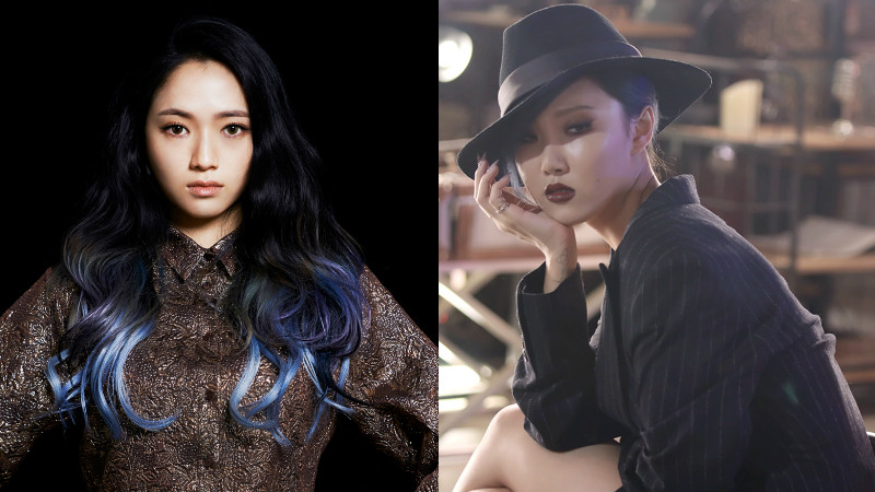 "MAMAMOO's Hwasa And Ladies' Code's Sojung Team Up For ""Music Bank"" Performance"