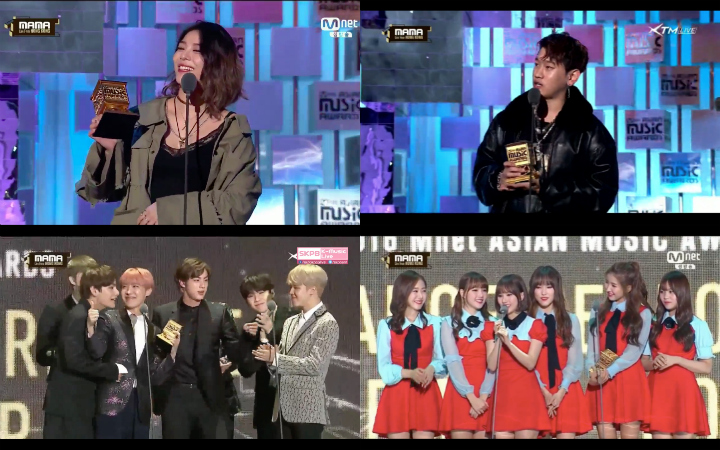 All The Winners Of The 2016 Mnet Asian Music Awards (MAMA)