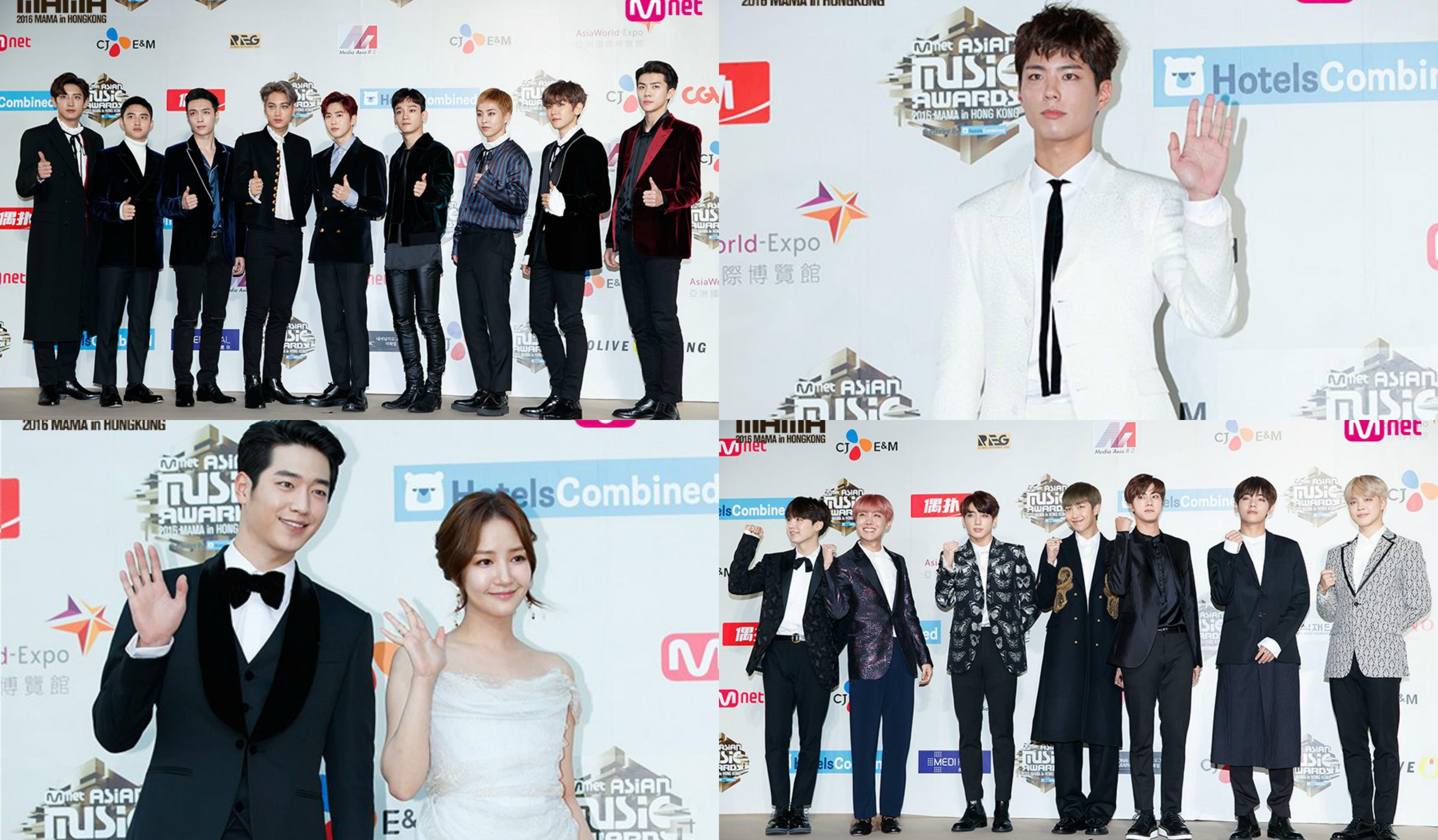 Stars Walk the Red Carpet at 2016 Mnet Asian Music Awards (MAMA)