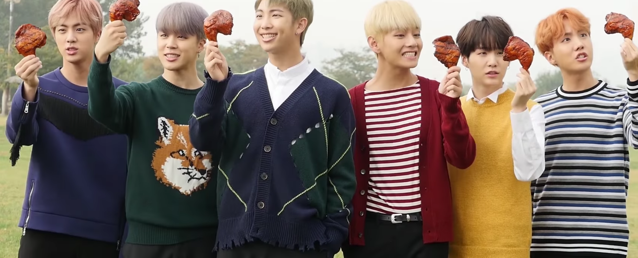 Watch: BTS Becomes Kings Of Eating In Behind-The-Scenes BBQ Chicken Video