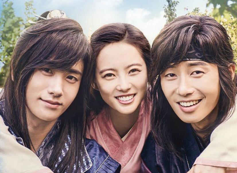 "Latest ""Hwarang"" Poster Teases Romance Between Park Seo Joon, Park Hyung Sik, And Go Ara"