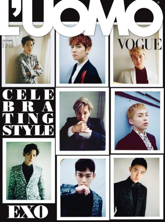 EXO Is The First Asian Group To Be Featured On Cover Of L'UOMO Vogue