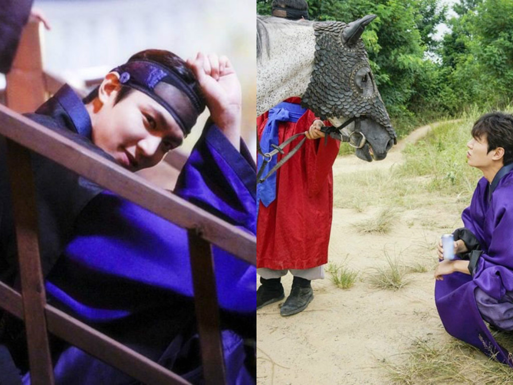 """Lee Min Ho Is Playful Behind-The-Scenes Of """"Legend Of The Blue Sea"""""""