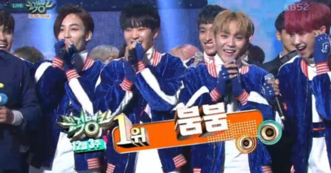 "Watch: SEVENTEEN Gets Their First ""Music Bank"" Win With ""BOOMBOOM,"" Performances By B1A4, UP10TION, ASTRO, And More"