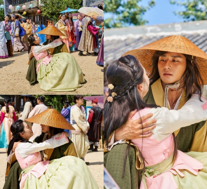"""Park Seo Joon And Go Ara Get Close For Their First Meeting In Latest """"Hwarang"""" Stills"""
