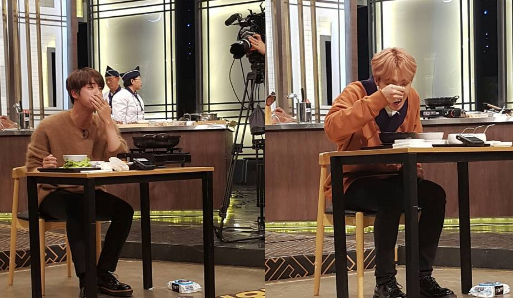 "BTS's Jin And J-Hope Show Off Their Mukbang Skills In Sneak Peek Of ""Baek Jong Won's 3 Great Emperors"""