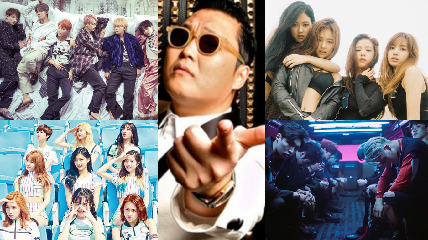 BTS PSY BLACKPINK TWICE EXO