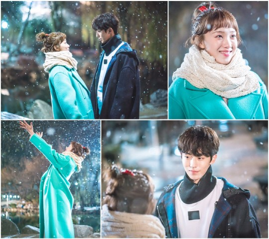 "Lee Sung Kyung And Nam Joo Hyuk Have Romantic Snow Day On ""Weightlifting Fairy Kim Bok Joo"""