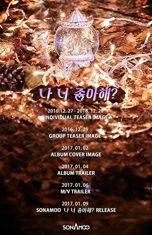 SONAMOO comeback schedule