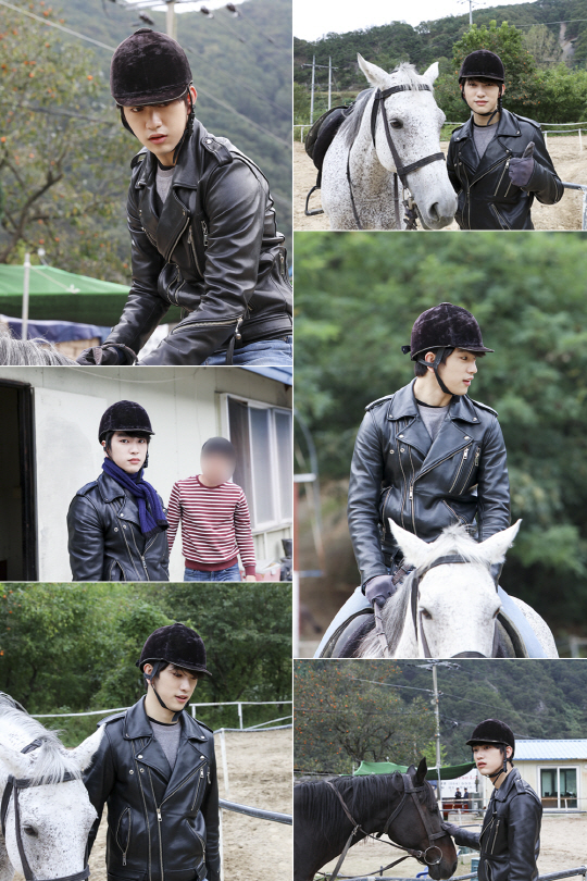 "GOT7's Jinyoung Practices Horseback Riding For ""The Legend Of The Blue Sea"" In New Photos"