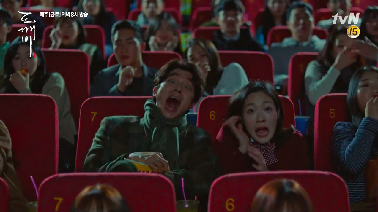 """Gong Yoo's Character In """"Goblin"""" Has Hilarious Reaction To His Own Hit Zombie Film """"Train To Busan"""""""
