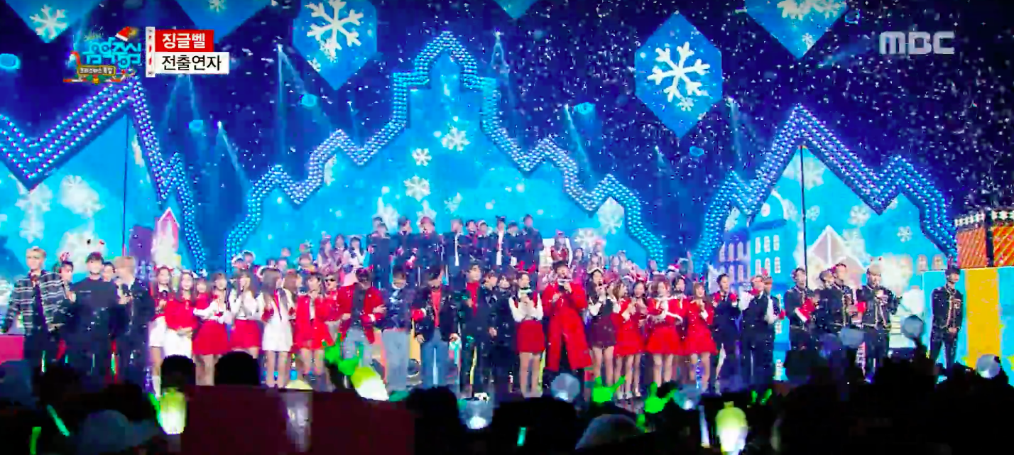 """Watch: SHINee, BTS, TWICE, And More Perform On """"Music Core"""" Christmas Special"""