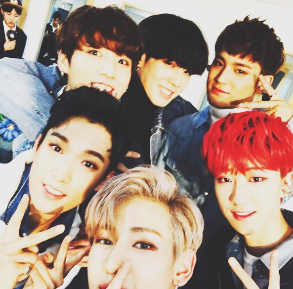 Bambam Shares Group Shot With 97 Liners From Got7 Bts And