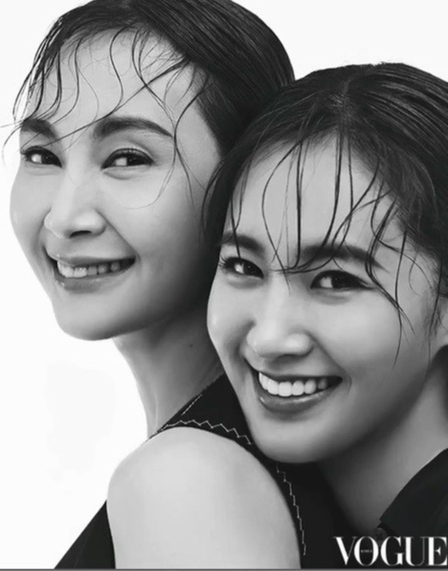Actress Chae Si Ra And Girls' Generation's Yuri Look Like Mother And Daughter In Vogue Korea