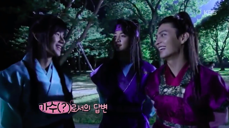 "Watch: BTS's V Gets Teased Adoringly By His Co-Stars On Set Of ""Hwarang"""