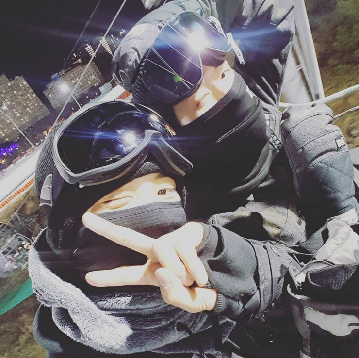 EXO's Chanyeol Cheers On Baekhyun As He Learns To Snowboard In Instagram Videos