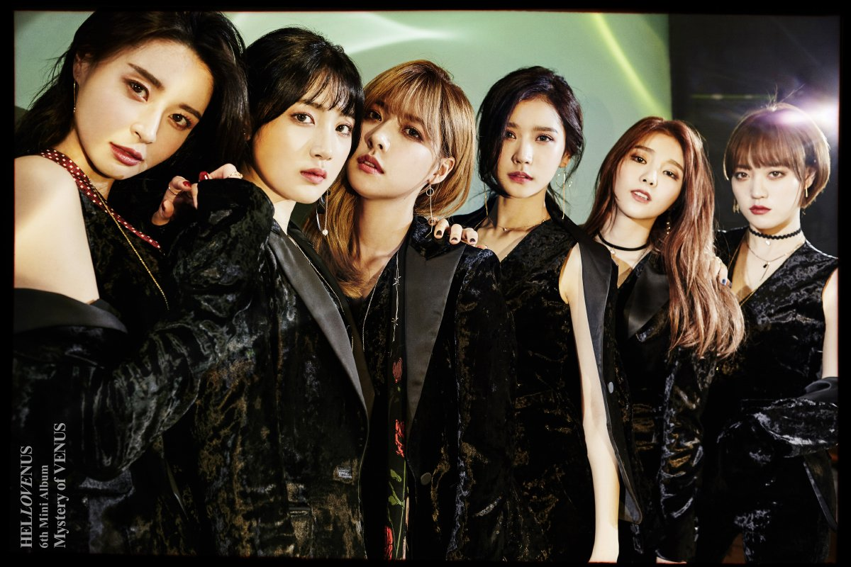 "Hello Venus Is Stunning In Black In Concept Photos For ""Mystery Of VENUS"""
