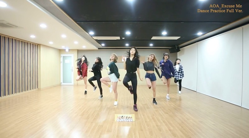 "Watch: AOA Helps You Learn ""Excuse Me"" Choreography By Releasing Dance Practice Video"