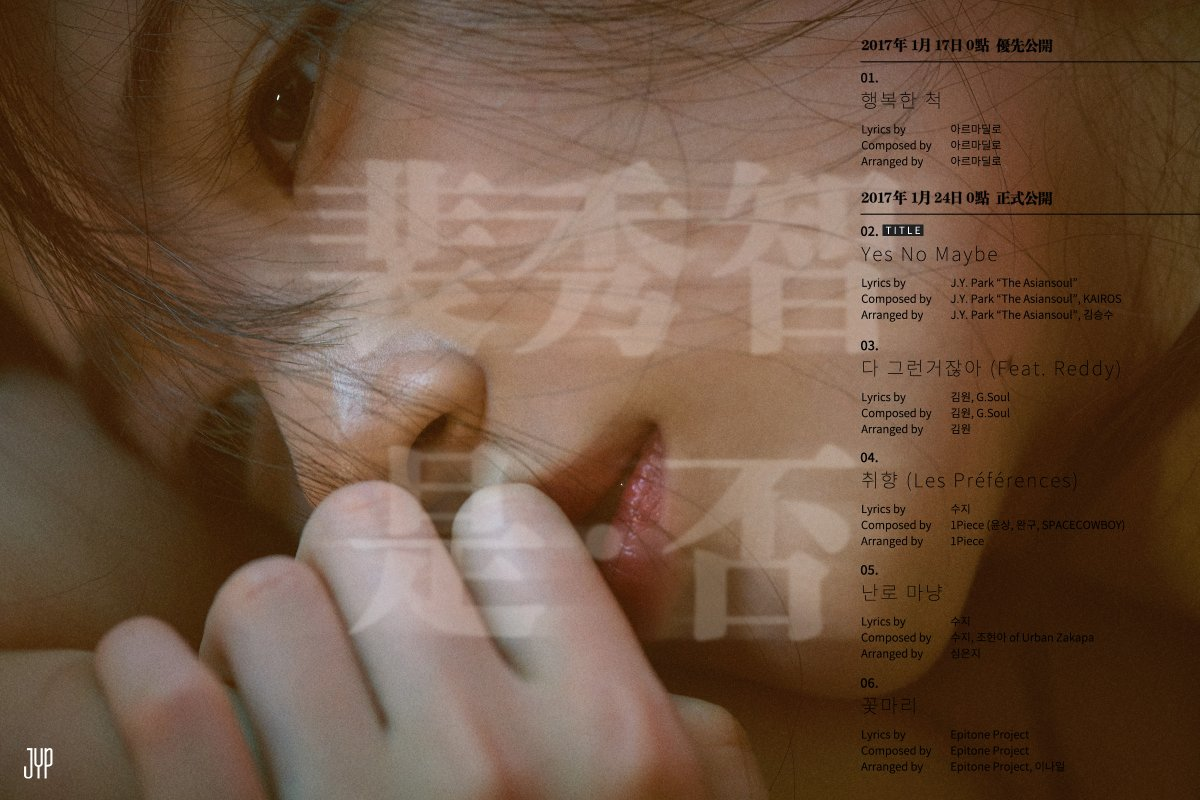 Suzy Shares Track List For 1st Solo Mini Album
