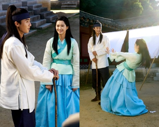 "Go Ara And Park Seo Joon Share A Sweet Moment In New Stills From ""Hwarang"""