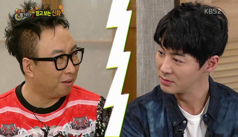"Shinhwa's Jun Jin And Park Myung Soo Have A Hilarious Standoff Over ""Infinite Challenge"""