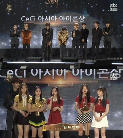 EXO Red Velvet CeCi Asia Icon Award