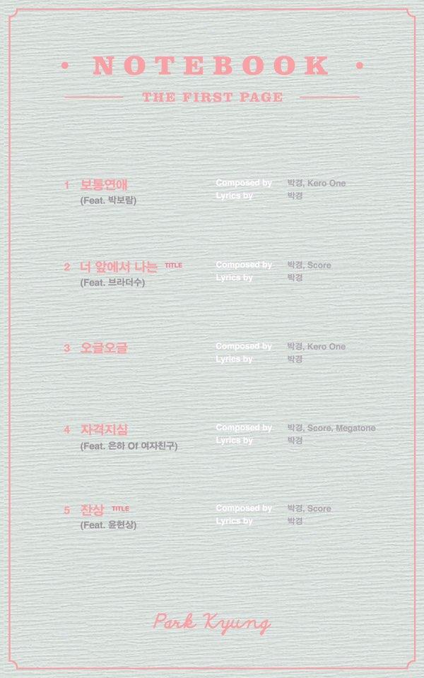 Park Kyung tracklist