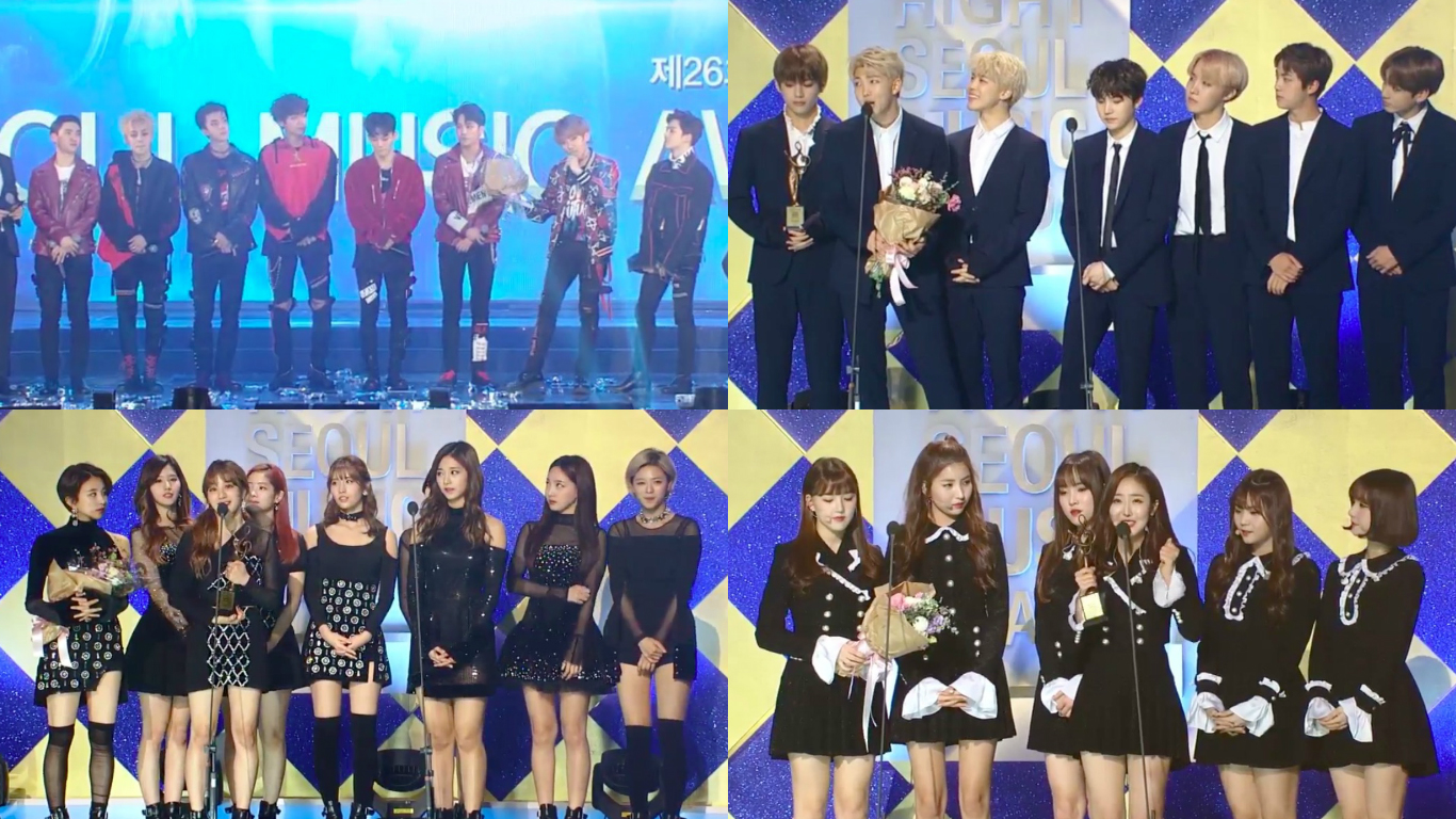 Winners Of The 26th Seoul Music Awards