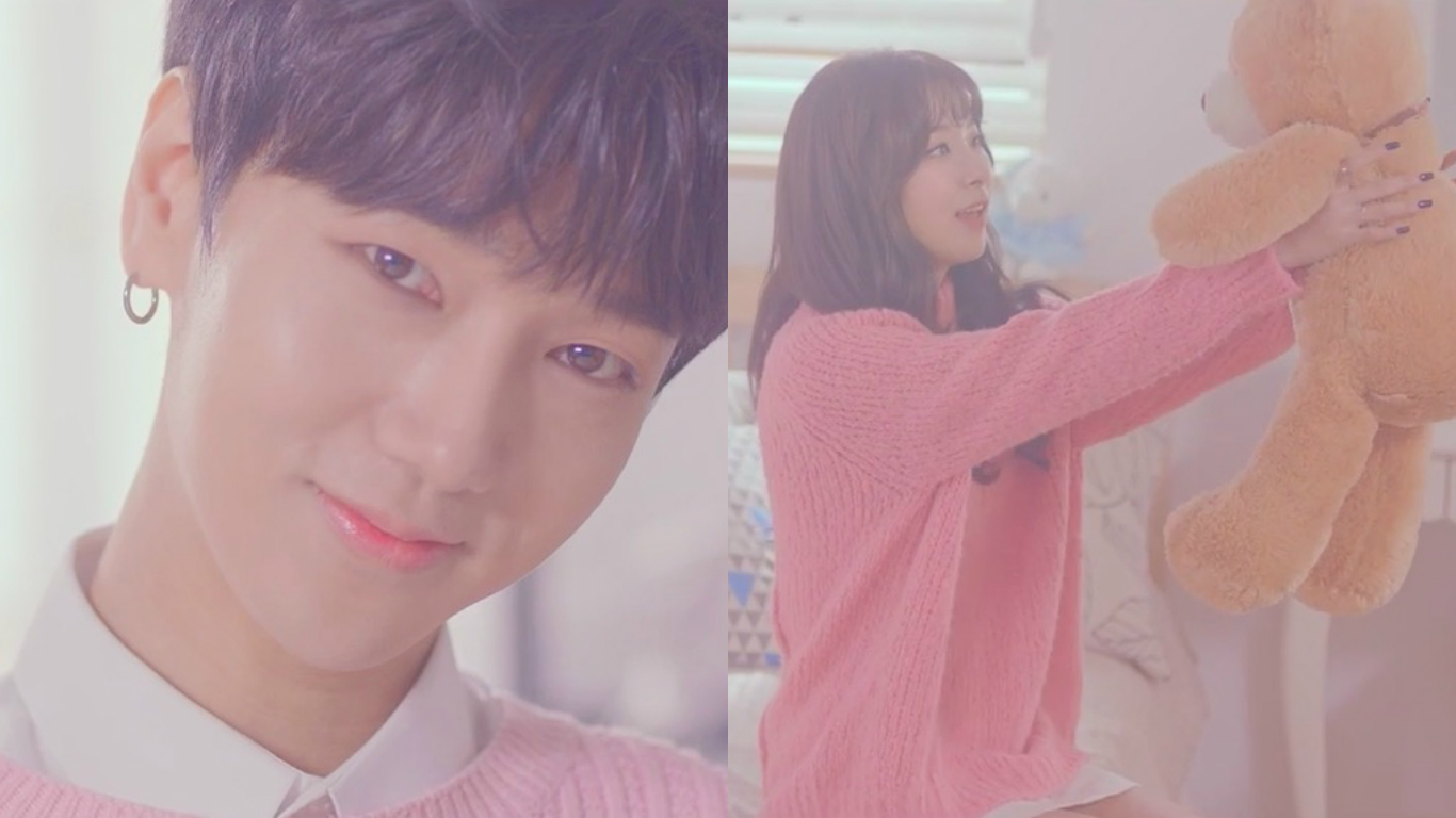 """Watch: Super Junior's Yesung And Red Velvet's Seulgi Share Teaser Video For Romantic Duet """"Darling U"""" MV"""